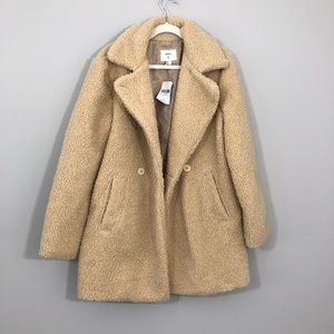 NWT Forever 21 LA Cream Fuzzy Teddy Bear Jacket